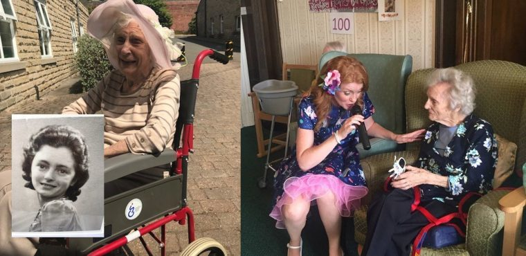 100th birthday party for Betty at Sheffield care home