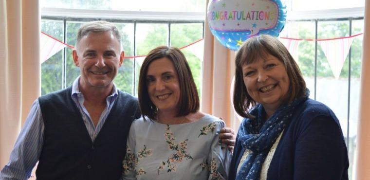 Surprise party marks care home manager's 25 years