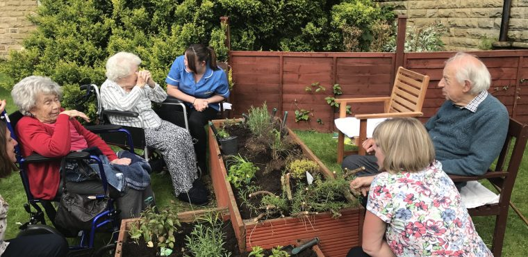 Herb planting boosts Sheffield care home residents' wellbeing
