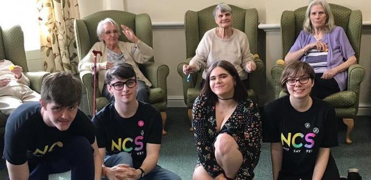 Teenagers and dancing teens get elderly active