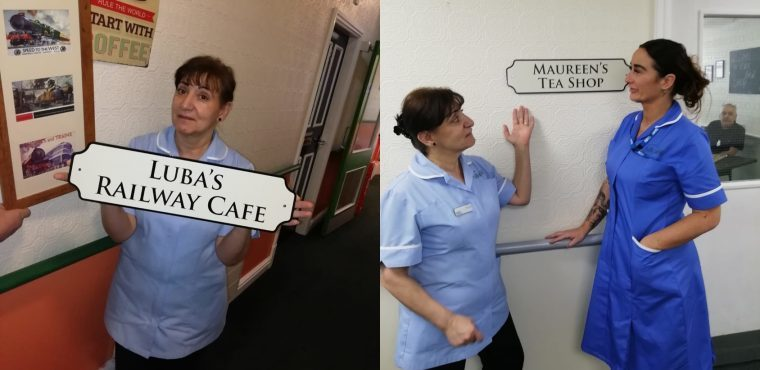 Care home's café and tea room renamed after colleagues