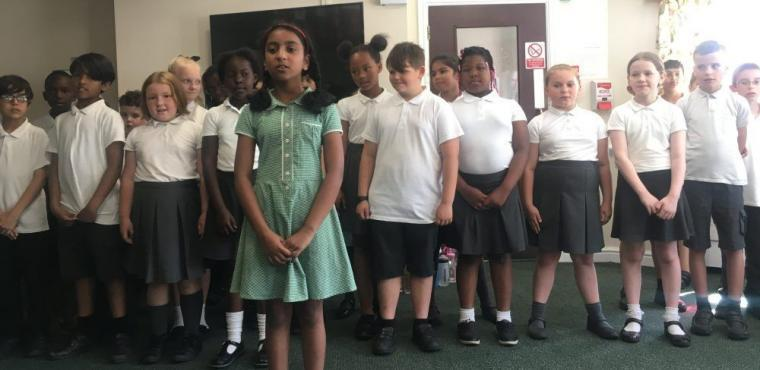 Pupils rehearse school play for Bolton care home residents
