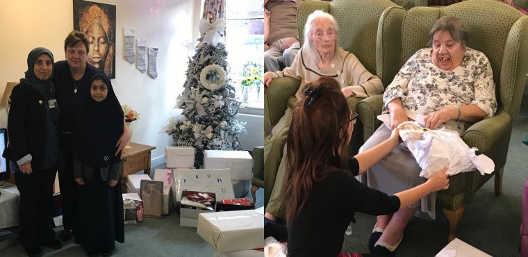 Elderly get Christmas delivery from kind-hearted pupils