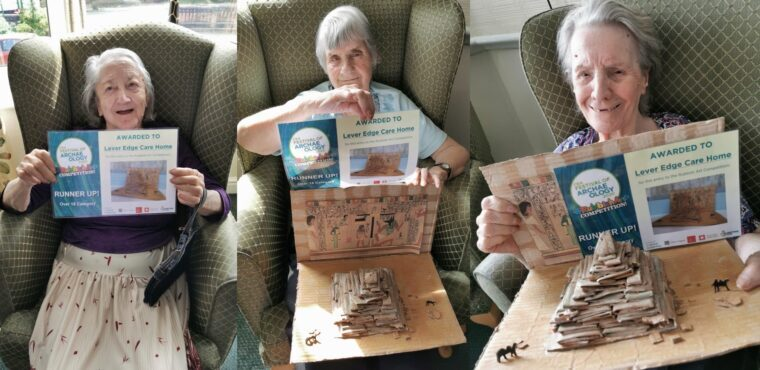 Residents' paper pyramid a winner in archaeology competition