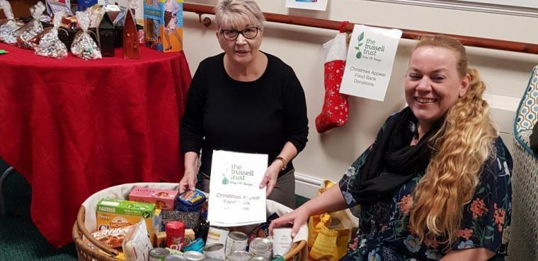 Care home donates Christmas hamper to Sheffield food bank
