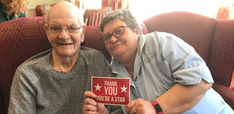 """Star"" care assistant gets surprise note during hospital visit"