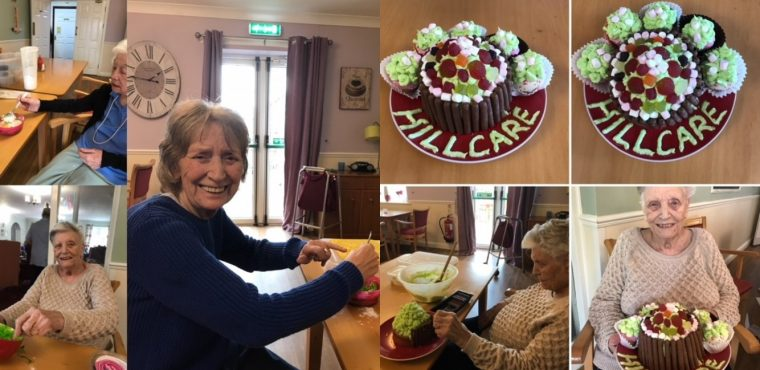 Elderly bakers create cupcakes for their care home