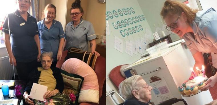 Kathleen celebrates her 102nd birthday