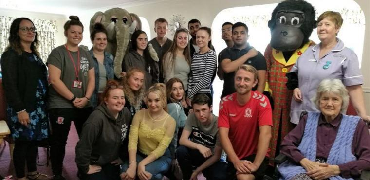 Teens talk football and manicures at Teesside care home