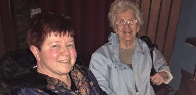 Calamity Jane entertains elderly at Billingham Forum