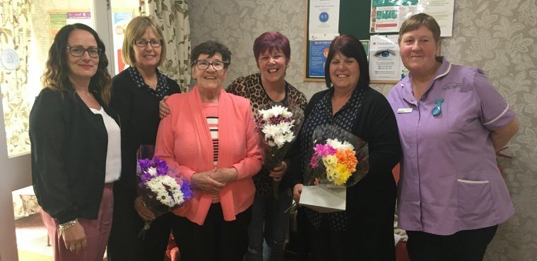 Hospital raffle raises hundreds for care home residents