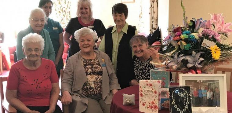 Teesside care home volunteer retires at 92
