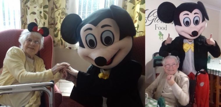 Mickey Mouse party at Runcorn care home