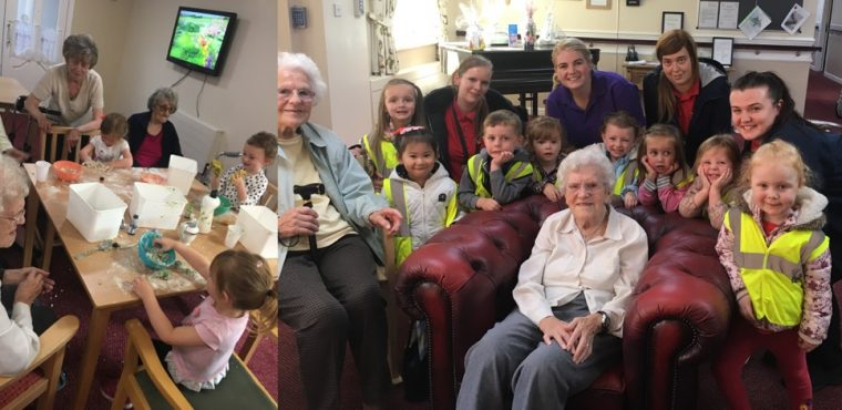 Messy National Play Day at Halton View Care Home