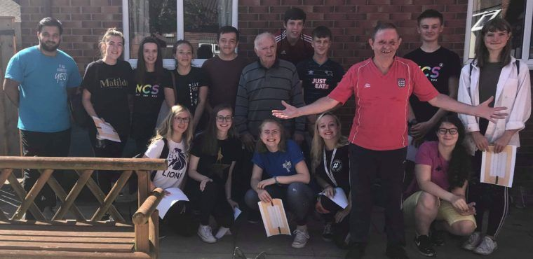 Notts County FC teens raise funds for elderly residents