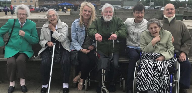 Seaside fun for Blyth care home residents