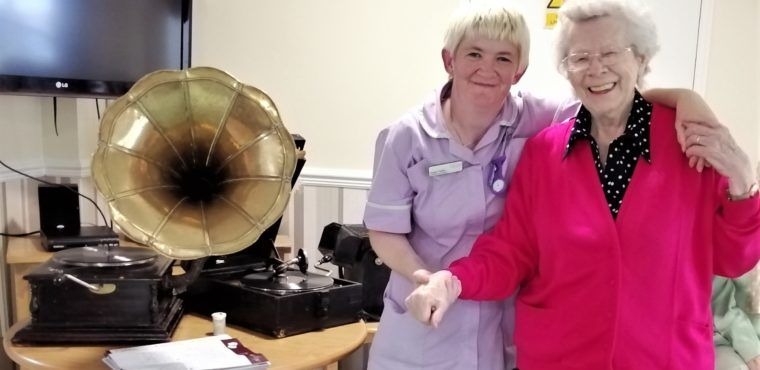 Gramophone music revived for elderly care home residents