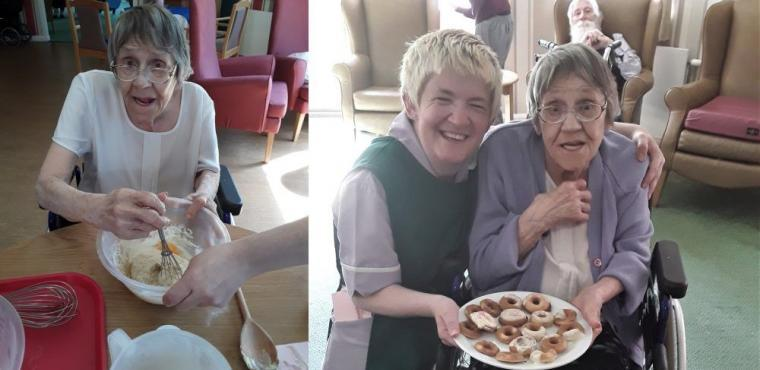 National Doughnut Week at Blyth care home