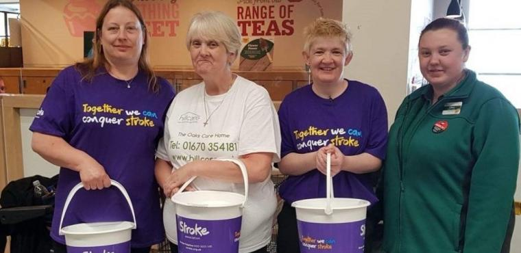 Hundreds raised for Stroke Association by care home workers