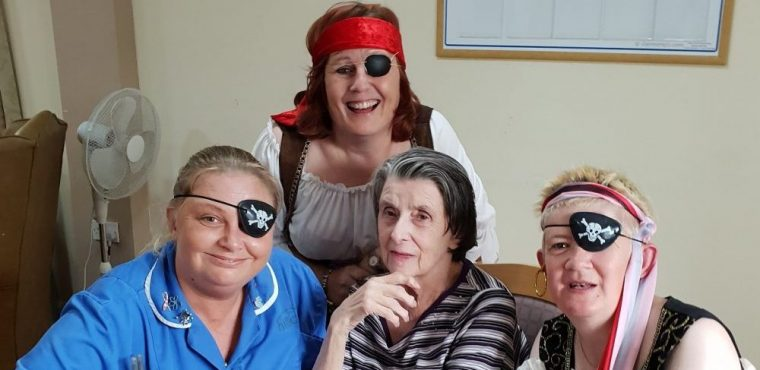 The Jolly Roger flew over The Oaks Care Home