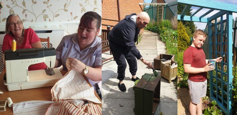 Residents use lifetime of skills to revamp their care home