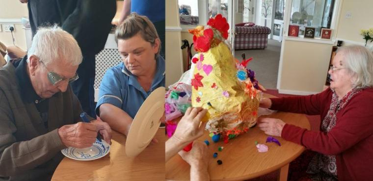 Crafty residents get creative on National Care Home Open Day