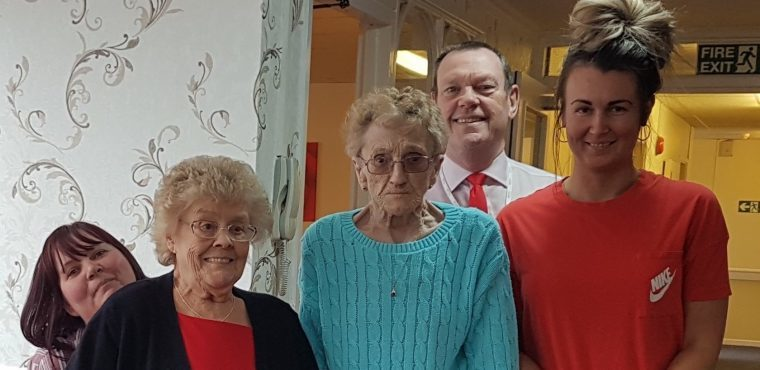 Care home wears red to raise funds to fight heart disease