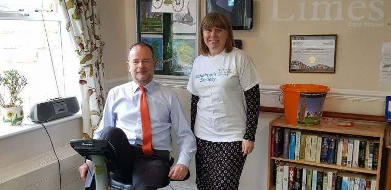 Charity cycle challenge at Sheffield care home