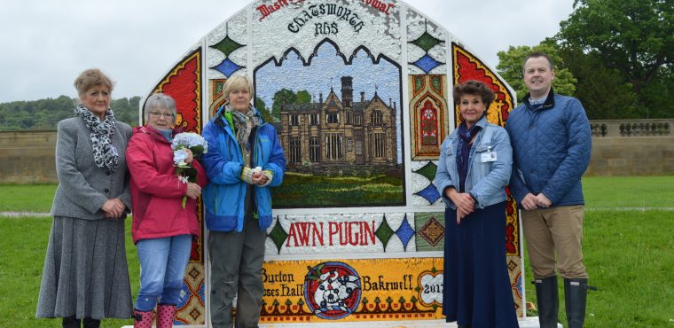 Bakewell team unveils well-dressing at RHS Chatsworth