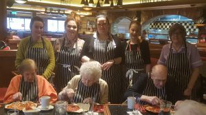 Frankie and Benny's pizza party
