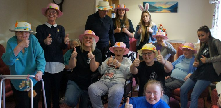 Egg-citing Easter bonnet making at Queens Meadow Care Home