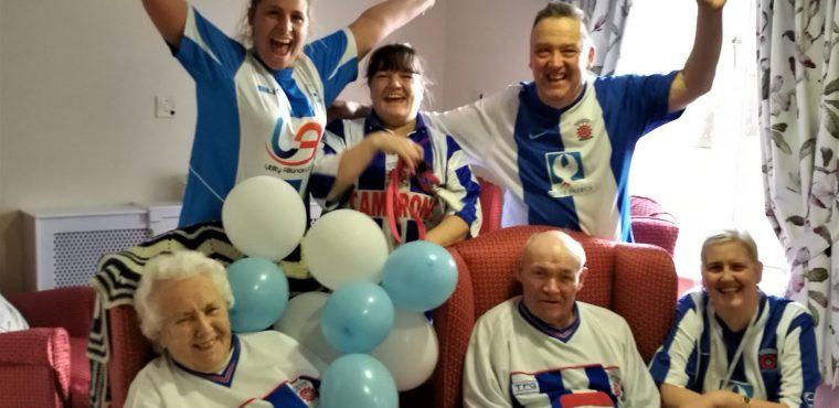 Elderly fans raise funds for Hartlepool United