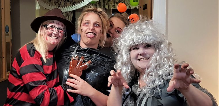 Devilishly fun Halloween party for Hartlepool care home