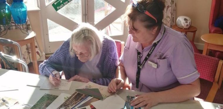 Postcards of Kindness arrive at Hartlepool care home