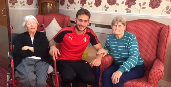 Rotherham United fans get surprise visit from defender Joe