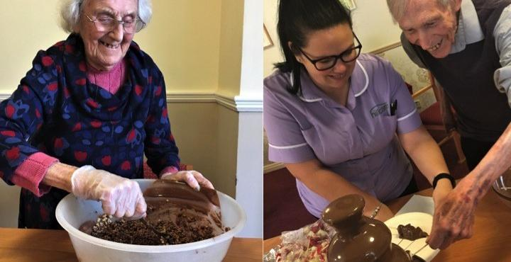 Care home residents get sweet treat for Chocolate Week