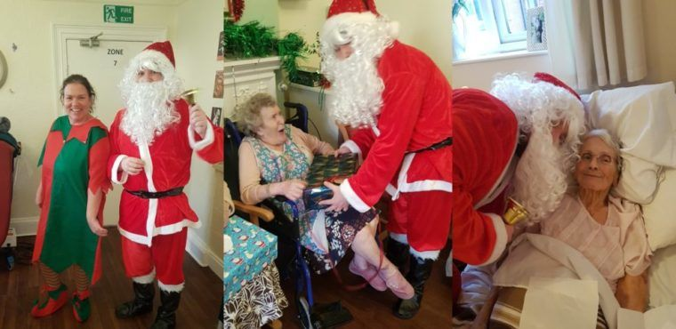 Chatsworth staff give Christmas cheer to Chesterfield care home