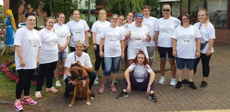 10-mile sponsored walk helps pay for care home seaside trip