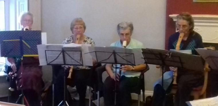 U3A recorder players perform for care home
