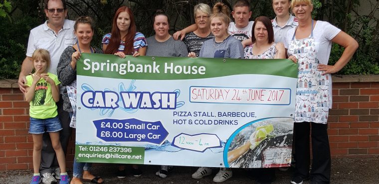 Pop-up car wash raises funds for Chesterfield care home residents