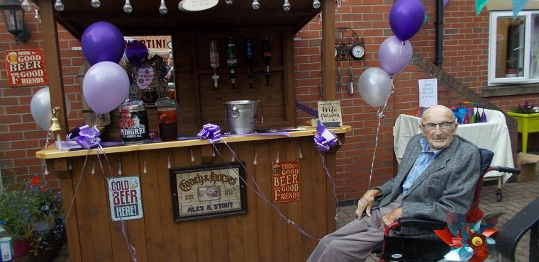 Chesterfield care home bar built in Tony's memory