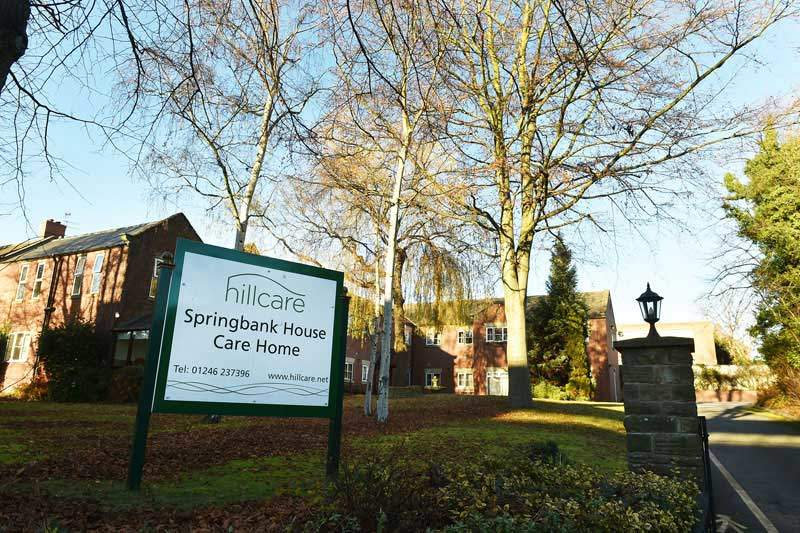 Springbank house dementia residential care home Chesterfield Derbyshire