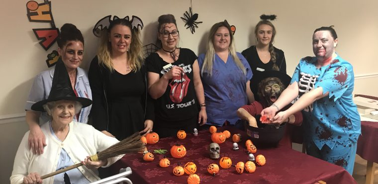 Spooky sensory session at Stockton care home
