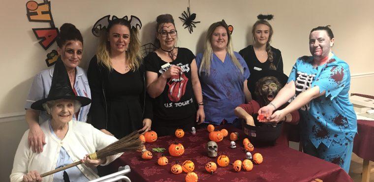 Spooky sensory session at Stockton care home
