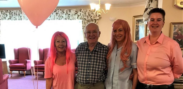 'Pretty in pink' care home raises awareness of breast cancer
