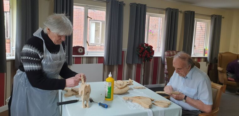 Woodwork sessions empowering Blyth care home residents