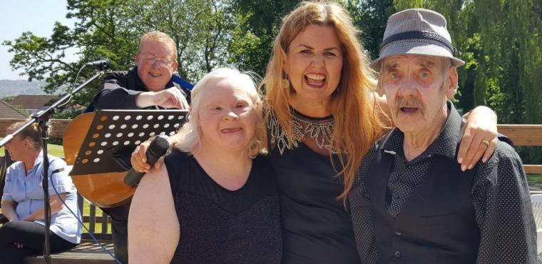 Care home's mini-festival inspired by Glastonbury
