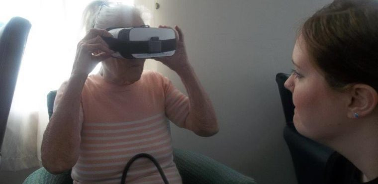 Virtual reality tours of the North East for elderly residents