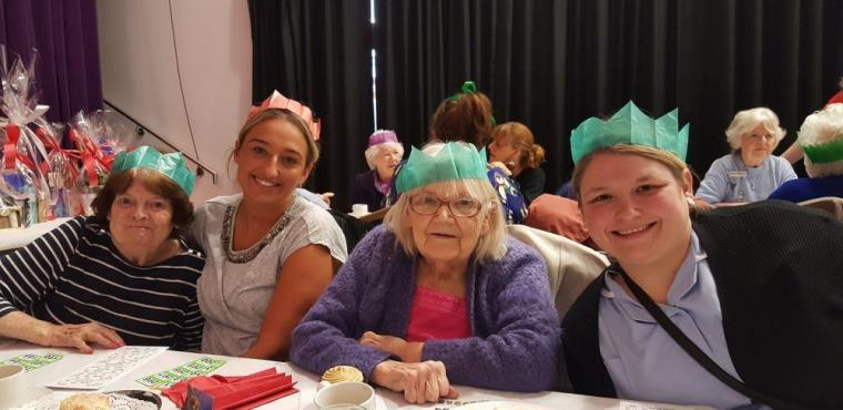 Students organise Christmas party for Tyneside elderly