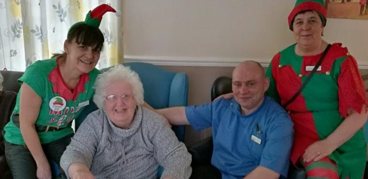 Elves help care home raise funds for dementia fight